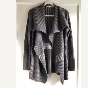 Minnie Rose Cashmere Cardigan Sweater Large $290